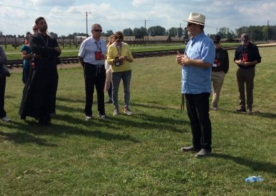 Jeff Cavins' group visit Auschwitz.