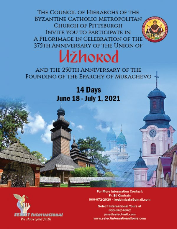 21JA06EUEC Uzhorod Pilgrimage 2021 Select International Tours