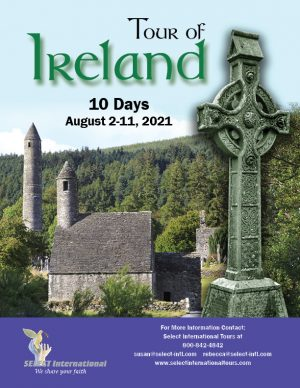 Choir Tour to Ireland August 2-11 2021 21SP08IRJM