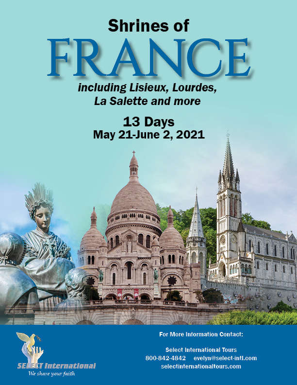 Shrines of France May 21-June 2, 2021 - 21EW05FREH