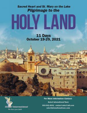 Holy Land Pilgrimage October 19-29, 2021 Select International Tours