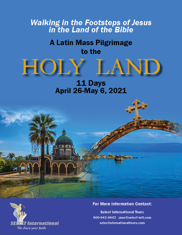 Pilgrimage to the Holy Land April 26-May 6, 2021 - 21JA04HLJF