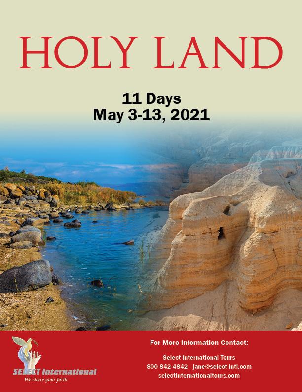 Pilgrimage to the Holy Land May 3-13, 2021 - 21JA05HLAT