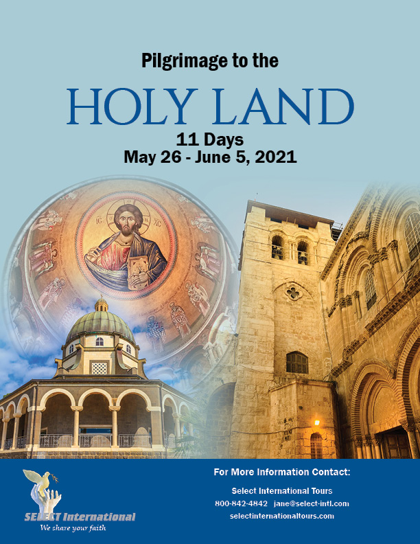 Pilgrimage to the Holy Land May 26-June 5, 2021 - 21JA05HLTC