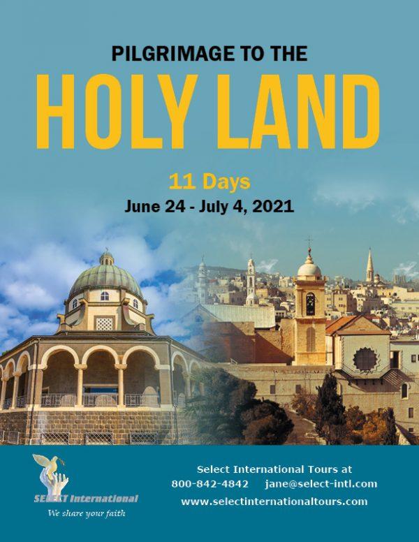 Pilgrimage to the Holy Land June 24-July 4, 2021 - 21JA06HLJG
