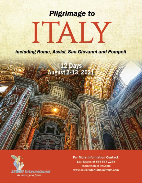 Pilgrimage to Italy August 2-13, 2021 - 21JA08ITLM