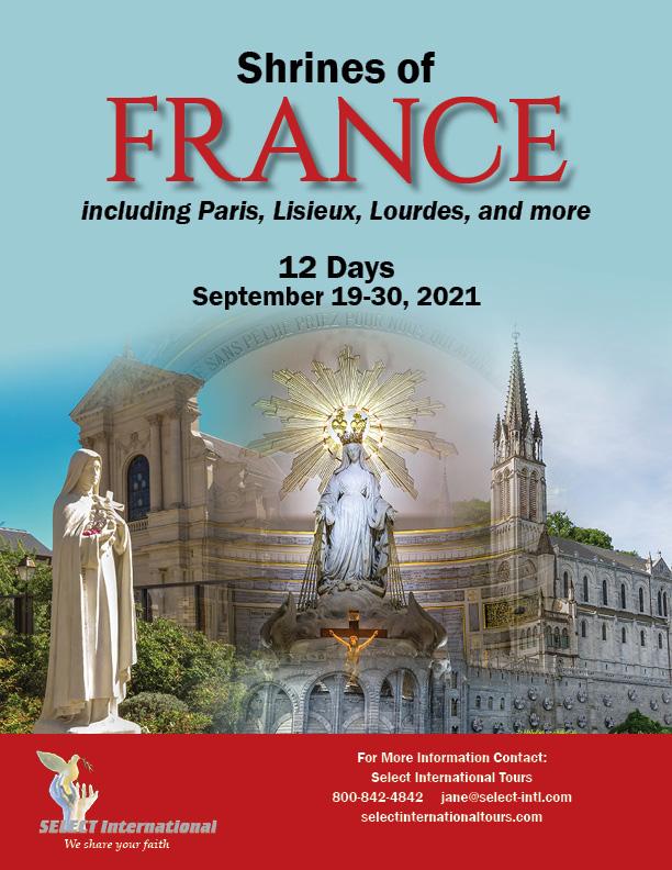 Shrines of France Pilgrimage September 19-30, 2021 - 21JA09FRVD