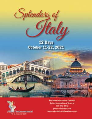 Splendors of Italy October 11-22, 2021 - 21JA10ITSC