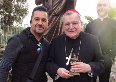 Hector Molina & Cardinal Burke in Capernaum with Select International Tours and Cruises