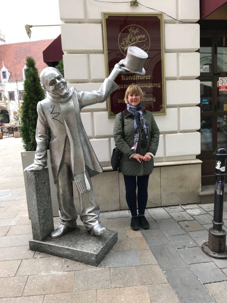 Kathleen on pilgrimage in Bratislava, Slovakia