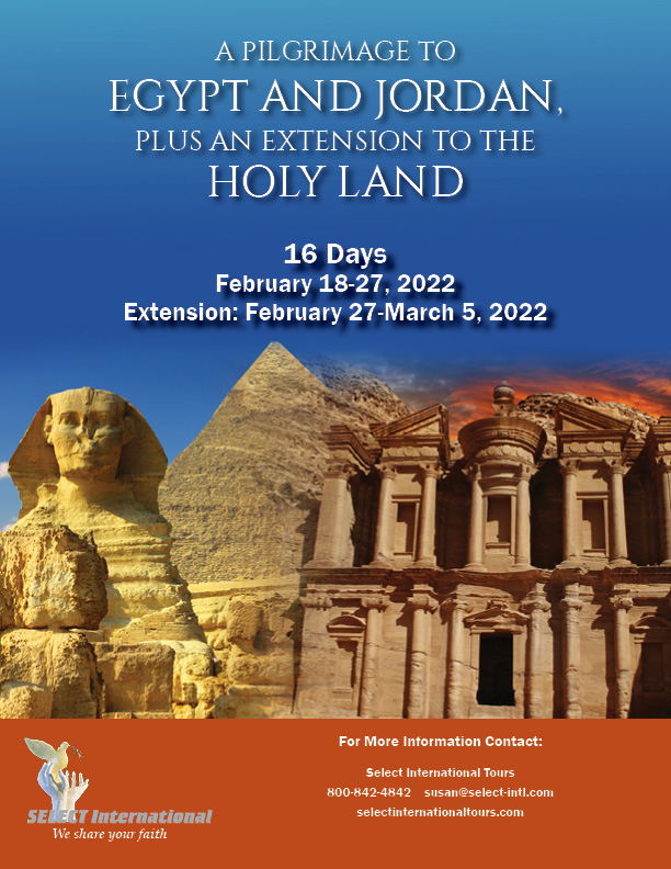 Pilgrimage to Egypt and Jordan February 18-27, 2022 Select International Tours