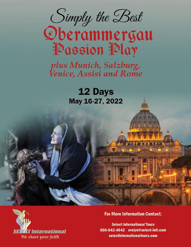 Oberammergau Passion Play, Munich, Salzburg, Venice, Assisi, and Rome Pilgrimage May 16-27, 2022 - 22EW05OB_KS