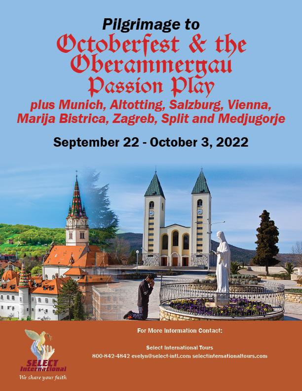 Oktoberfest and the Oberammergau Passion Play plus Medjugorje Pilgrimage September 22 - October 3, 2022 - 22EW09OBEA