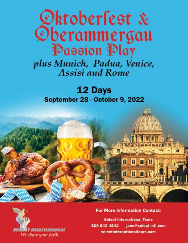 Oktoberfest and the Oberammergau Passion Play Pilgrimage September 28 - October 9, 2022 - 22JA09OBVD