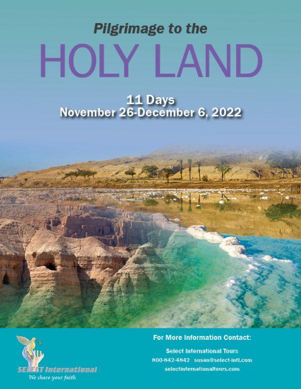 Pilgrimage to the Holy Land November 26-December 6, 2022 - 22SP11HLBT