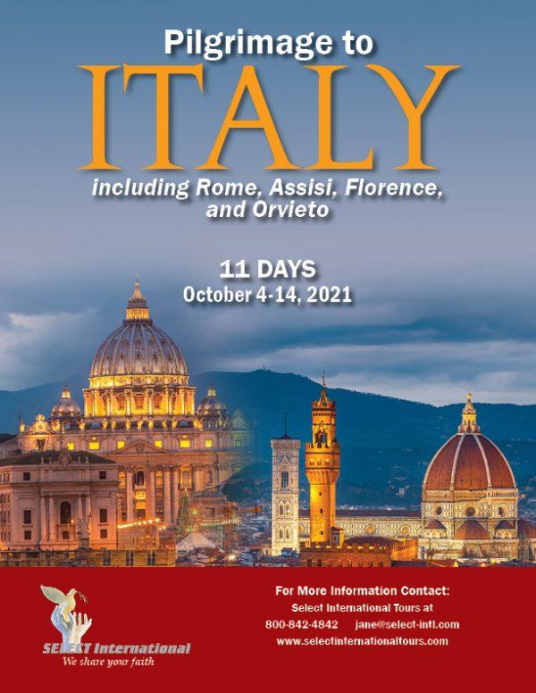 Pilgrimage to Italy October 4-14, 2021 - 21JA10ITRD
