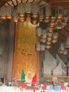 Tilma above the Altar