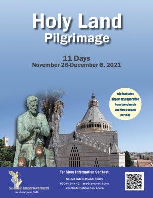 Transformed by the Gospels Holy Land Pilgrimage November 26-December 6, 2021