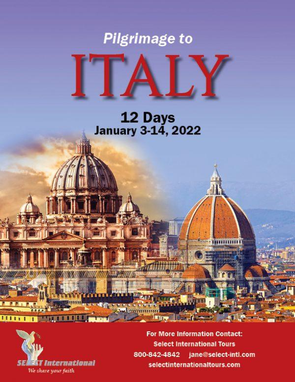 Pilgrimage to Italy January 3 - 14, 2022 - 22JA01ITFF