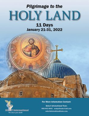 Pilgrimage to the Holy Land January 21-31, 2022 - 22EW01HLJS
