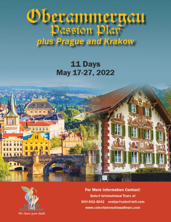 Pilgrimage to the Oberammergau Passion Play Pilgrimage, plus Prague and Krakow May 17-27, 2022 - 22EW05OBFV