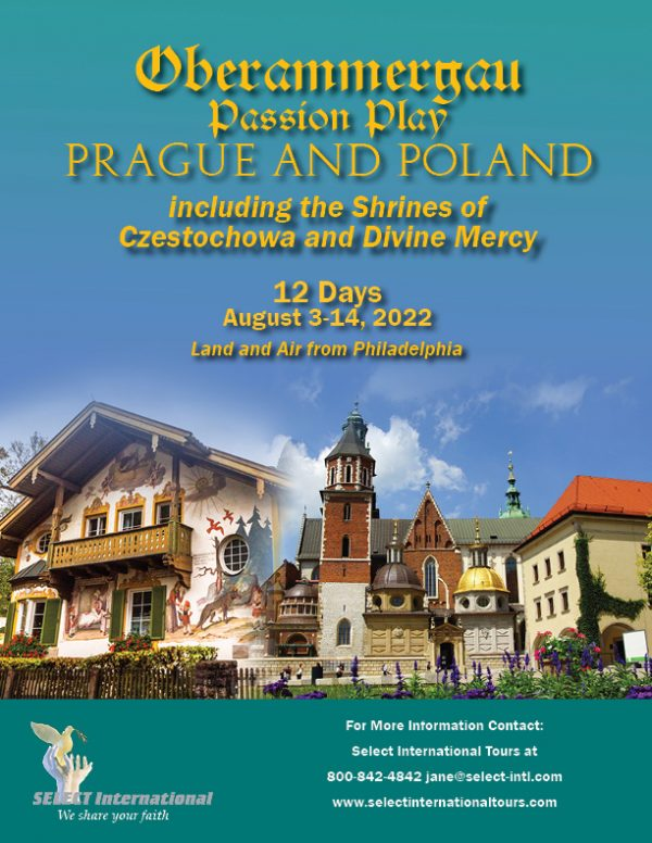 Pilgrimage to the Oberammergau Passion Play Prague and Poland August 3-14, 2022 - 22JA08OB_HH