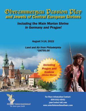 Oberammergau Passion Play Trip August 3-14, 2022