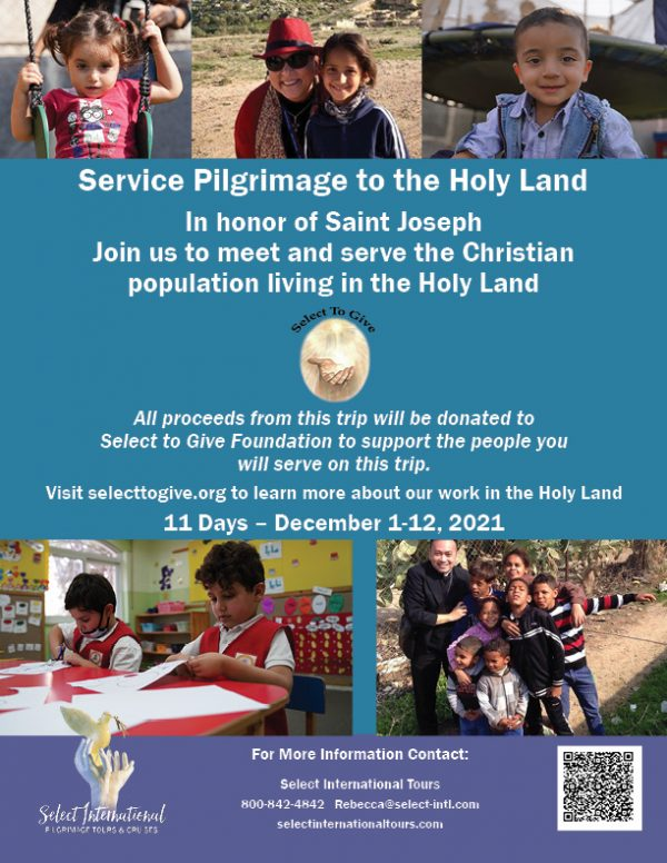 Service Pilgrimage to the Holy Land in Honor of Saint Joseph December 1-12, 2021 - 21RS12HLSTG