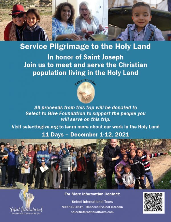 Service Pilgrimage to the Holy Land in Honor of Saint Joseph - December 1-12, 2021 - 21RS12HLSTG