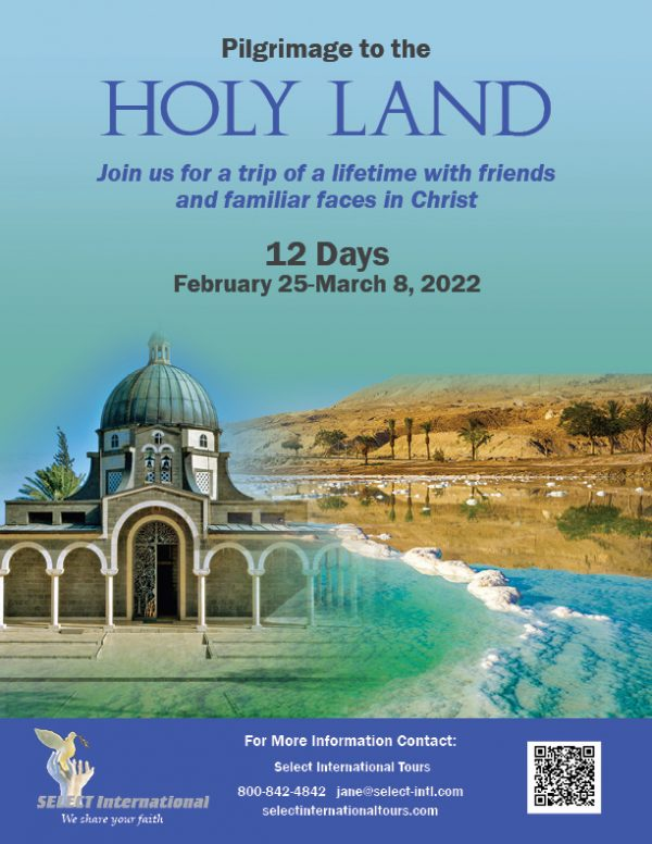 West Austin Pilgrimage to the Holy Land February 25-March 8, 2022-22JA02HLPT