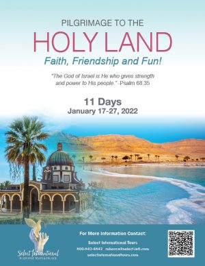 Pilgrimage to the Holy Land January 17 - 27, 2022 - 22RS01HLAW