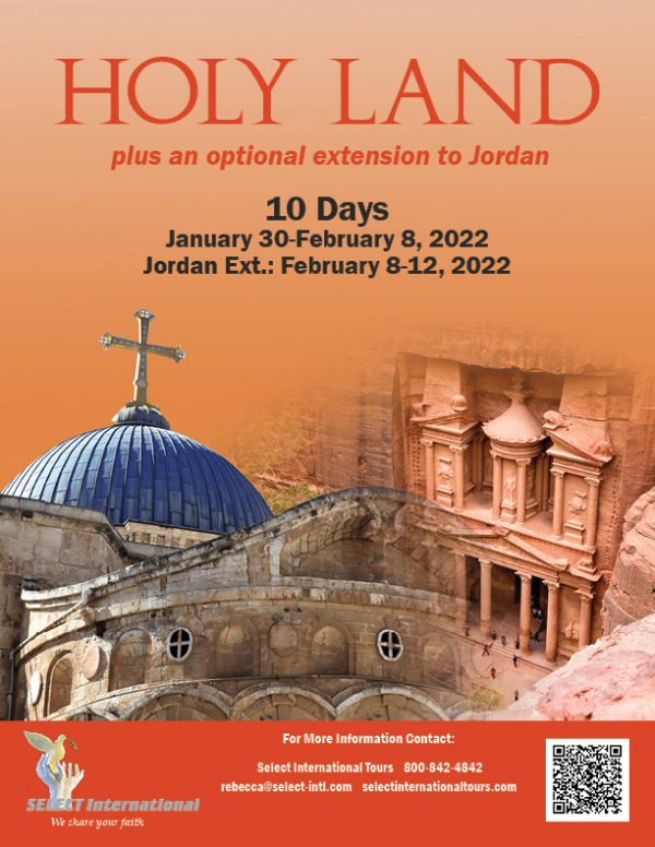 Holy Land Plus Optional Extension to Jordan January 30-February 10, 2022 - 22RS01HLTR