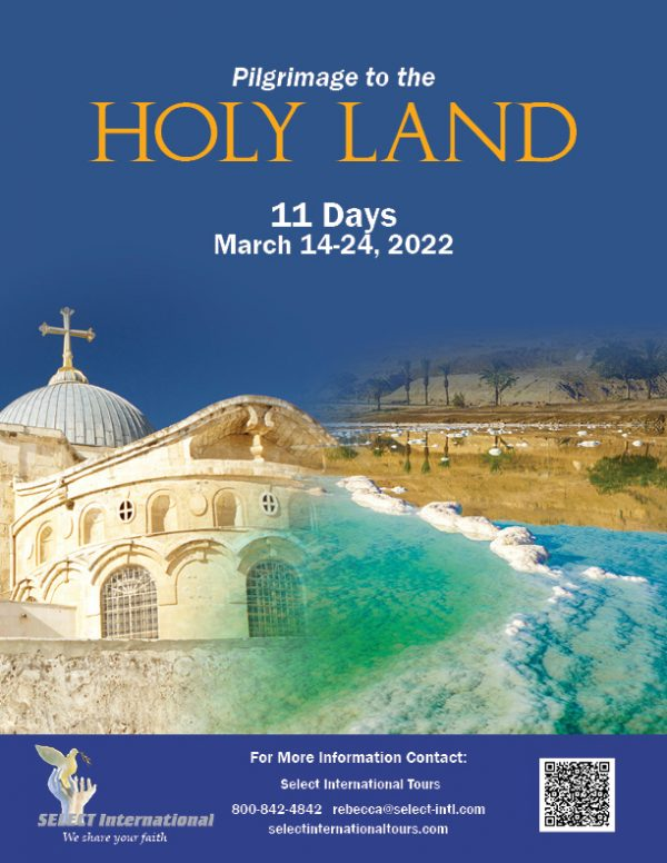 Pilgrimage to the Holy Land March 14-24, 2022 - 22RS03HLAD