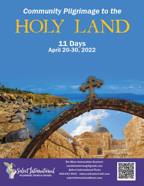 Community Pilgrimage to the Holy Land April 20-30, 2022 - 22RS04HLSBS