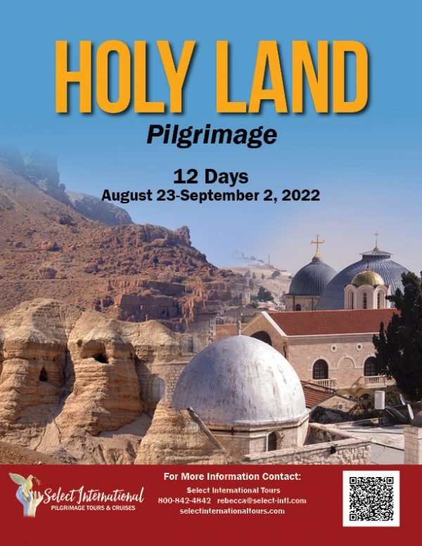 Holy Land Pilgrimage August 23-September 2, 2022 - 22SP08HLPR