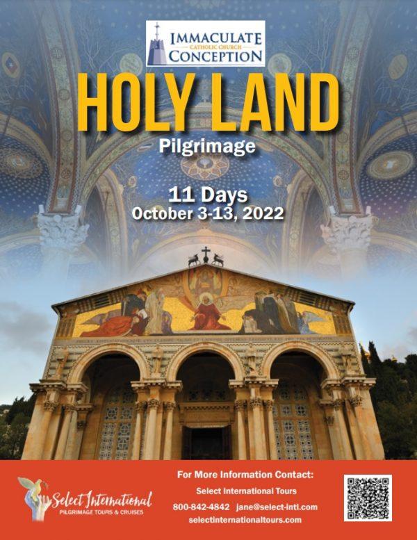 Holy Land Pilgrimage October 3-13, 2022 - 22JA10HLTH