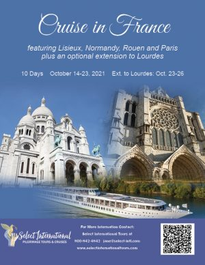 Cruise in France featuring Lisieux, Normandy, Rouen, and Paris October 14-23, 2021 - 21JA10FRHS