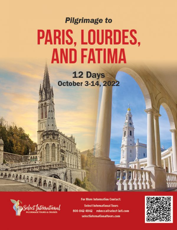 Marian Pilgrimage to Paris, Lourdes, and Fatima October 3-14, 2022 - 22RS10FRCT