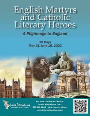 English Martyrs and Catholic Literary Heroes: A Pilgrimage to England May 31- June 10, 2022 - 22JA05UKDL
