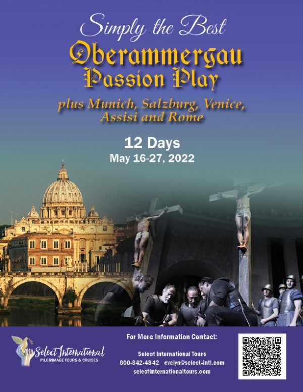 A Pilgrimage to Oberammergau, Germany, and Italy May 16-27, 2022 - 22EW05OB_ML