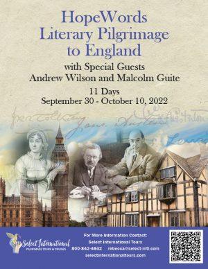 Hope Words Literary Pilgrimage to England September 30-October 10, 2022 - 22RS09UKTL
