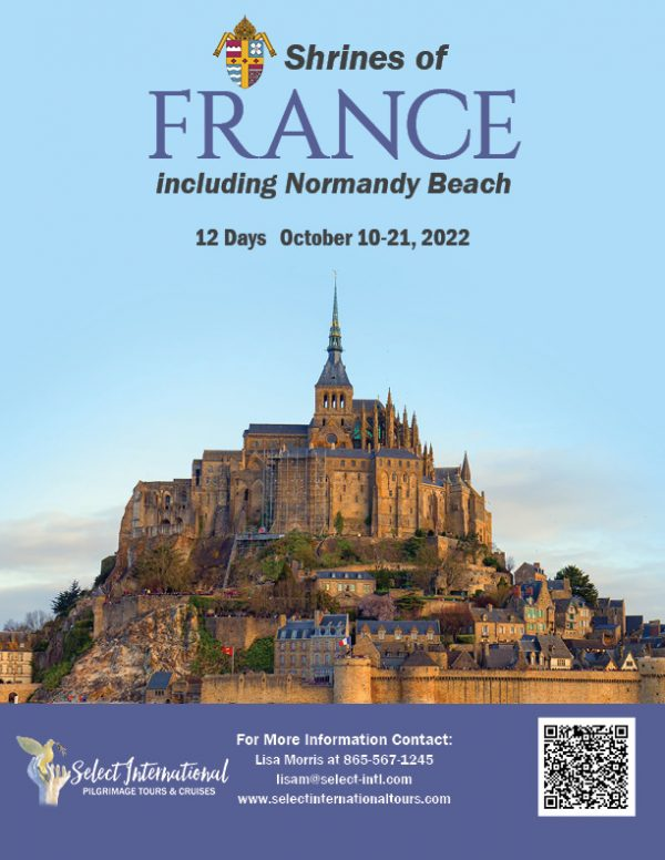 Shrines of France Including Normandy Beach October 10-21, 2022 - 22JA10FRLM