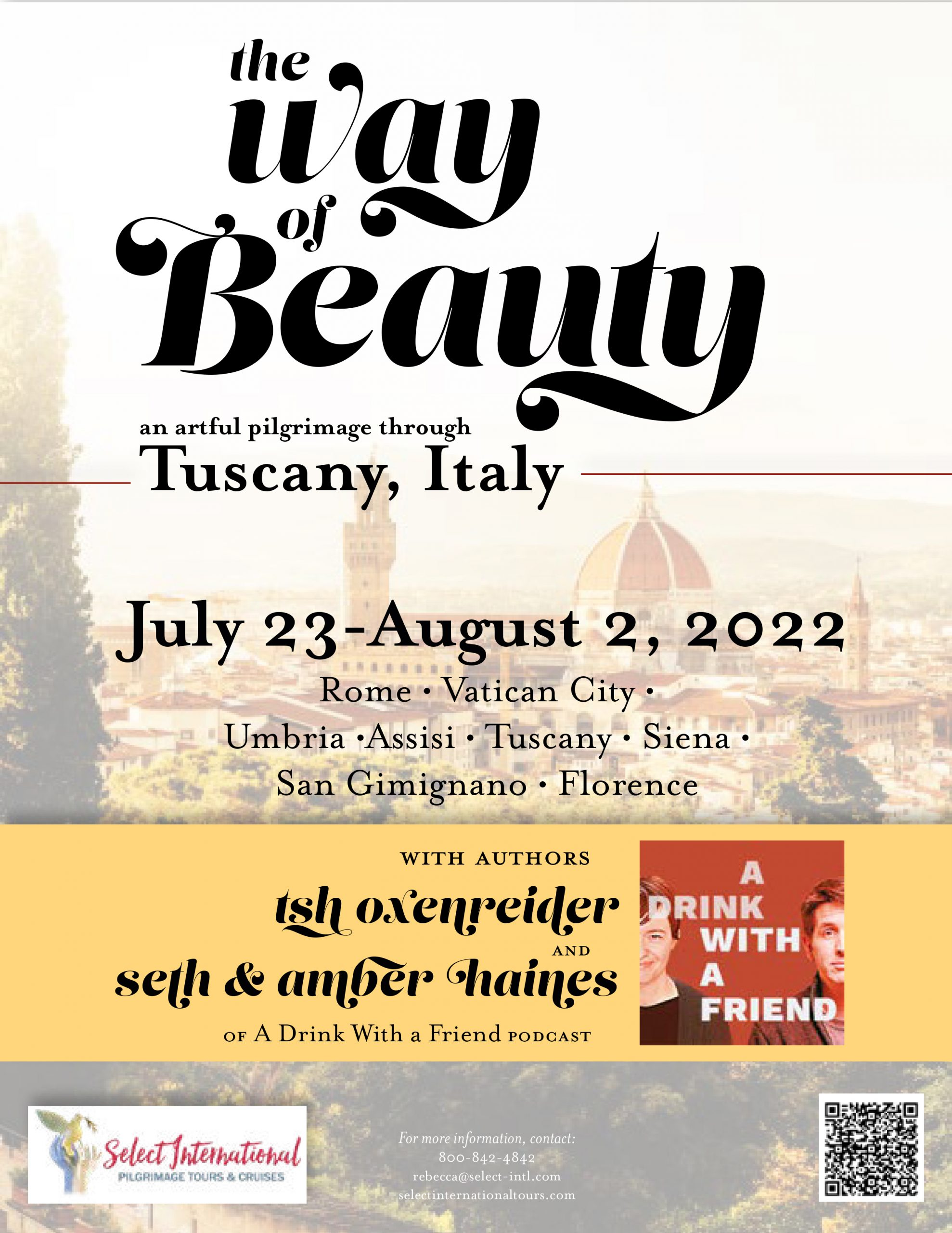 The Way of Beauty an Artful Pilgrimage Through Italy July 23 - August 2, 2022 - 22RS07ITTO