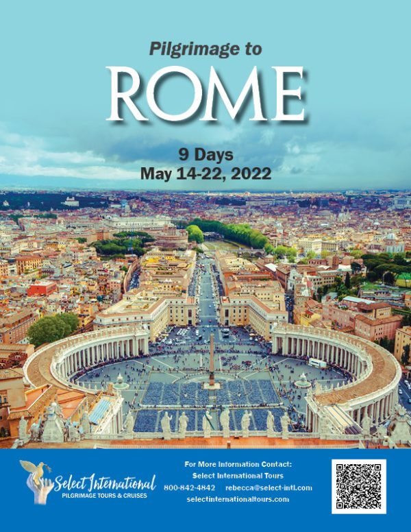 A Pilgrimage to Rome May 14-22, 2022 - 22RS05ITRO